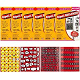 4 pics 1 word 7 letters - Freez-A-Frame 6 Magnetic 5 x 7 of Photo Frames + Xit Scrapbooking Stickers 4 Pages of Emojis, Quotes, Letters & Numbers - Top Value Emoji Accessory Bundle!