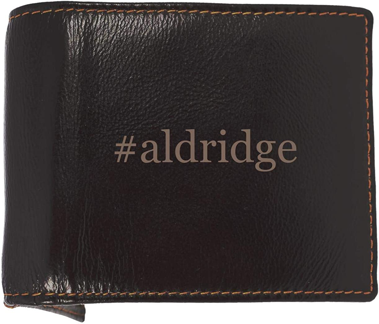 #aldridge - Soft Hashtag Cowhide Genuine Engraved Bifold Leather Wallet 61Q1l-7wgNL