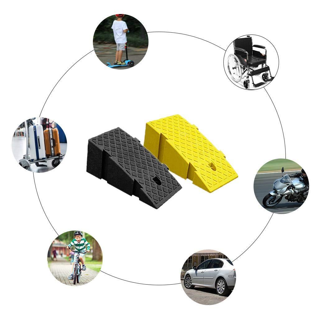 Rampas de bordillo de Goma montadas de Servicio Pesado para caravanas de autom/óviles Acceso para discapacitados en Silla de Ruedas Paquete de 1