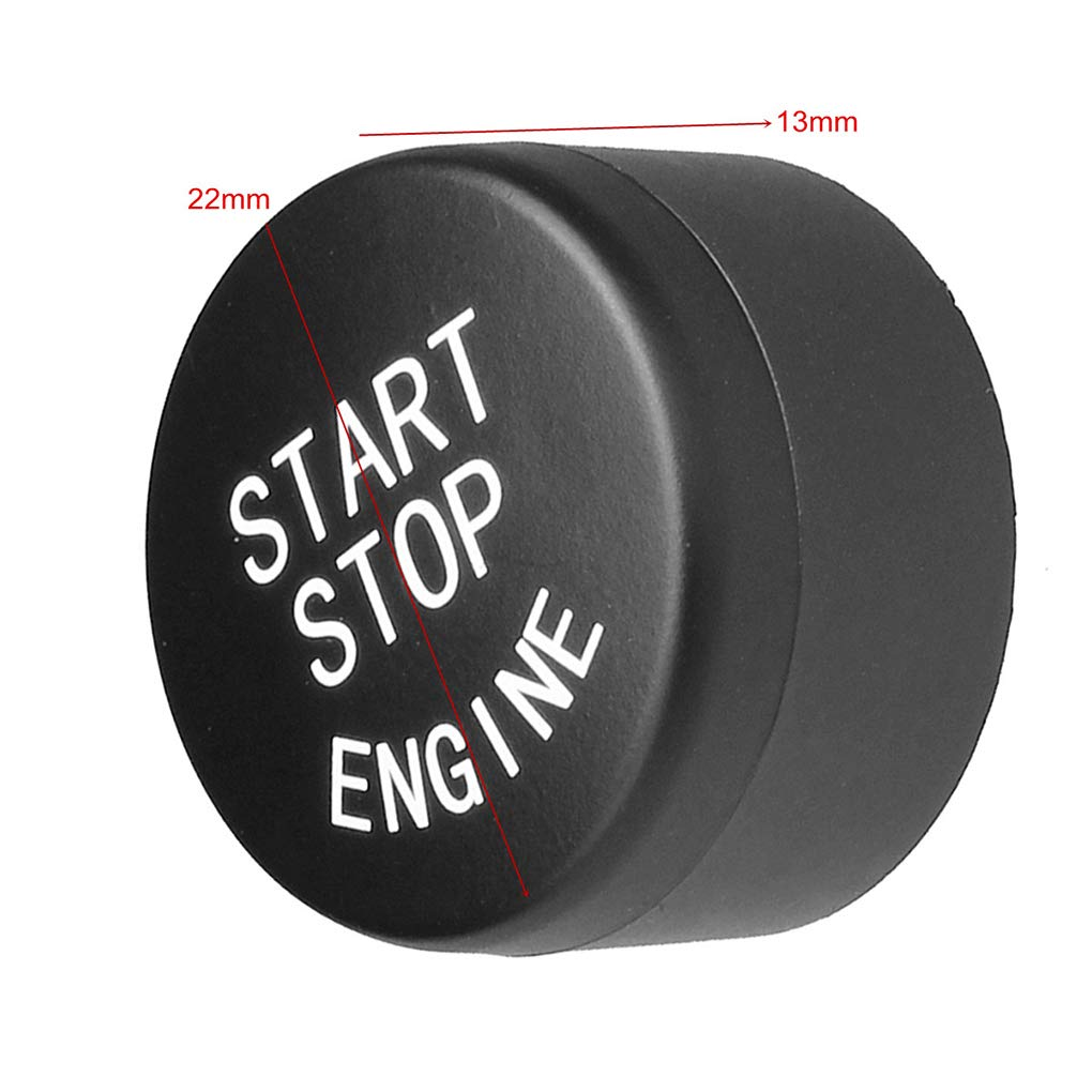 Schalterabdeckung Trim Cap Ersatz f/ür 5 6 7 F01 F02 F10 F11 F12 09-13 Elenx Kunststoff-Auto-Motor-Start-Stop-Knopf