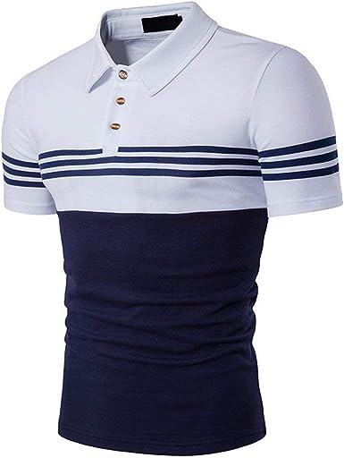 Mieuid Hombre Camisa De Manga Corta Camisas Camisa De Jersey Camisa De Hombres Chic Polo Camisa De Polo Camisa De Camisa Americana E Inferior De Estilo Americano: Amazon.es: Ropa y accesorios