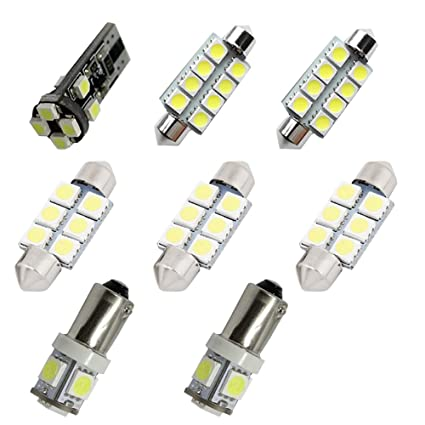 Amazon.com: For Audi A4 S4 B7 B8 Led Interior Lights Led Interior Car Lights  Bulbs Kit White 8pcs: Automotive