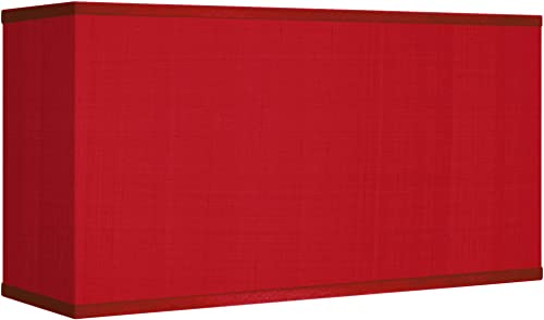 Red Textured Faux Silk Rectangular Shade 8 17×8 17×10 – Possini Euro Design
