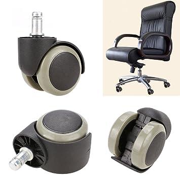 Amazoncom New 5PCS Office Chair Soft Rubber Caster Wheel Swivel