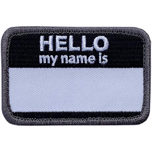 Amazon com: Hello My Name is Blank Name Tag Embroidered 3 0