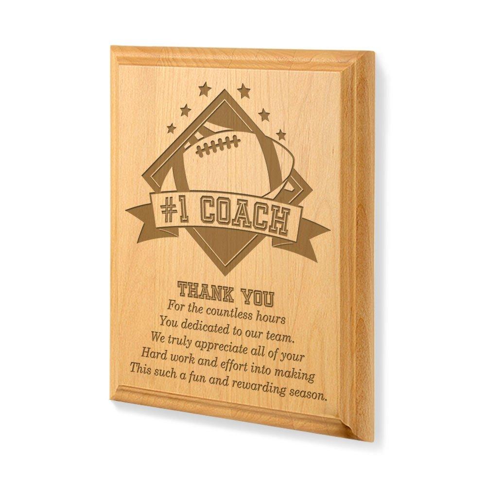 Kate Posh - #1 Football Coach Plaque and Award