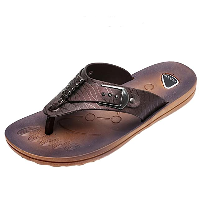 Men Flip Flops Sandals Summer Wide Band Slipper Rubber Casual Beach Flip-Flops