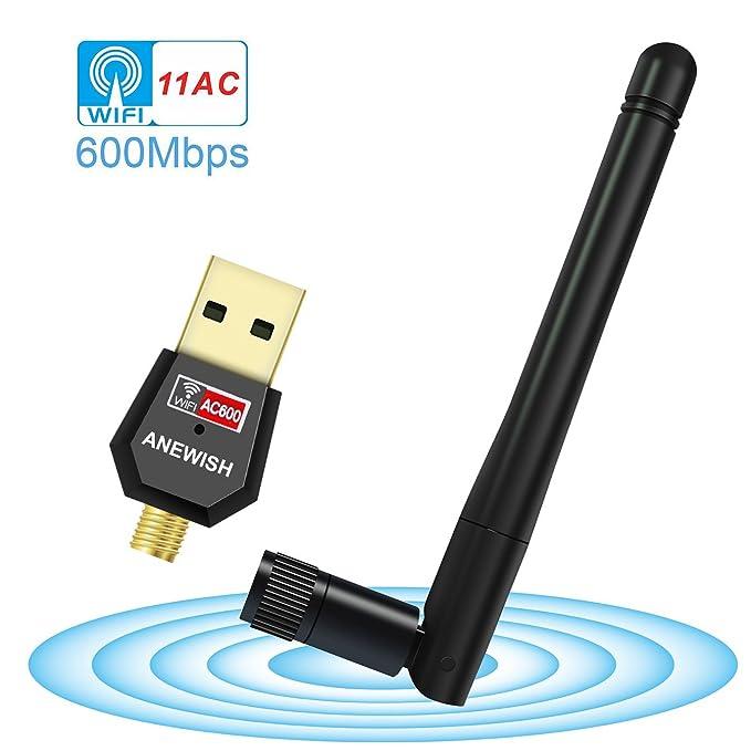 98 opinioni per ANEWISH® Adattatore WiFi 600mbps Scheda Wifi 802.11ac Wireless Adattatore