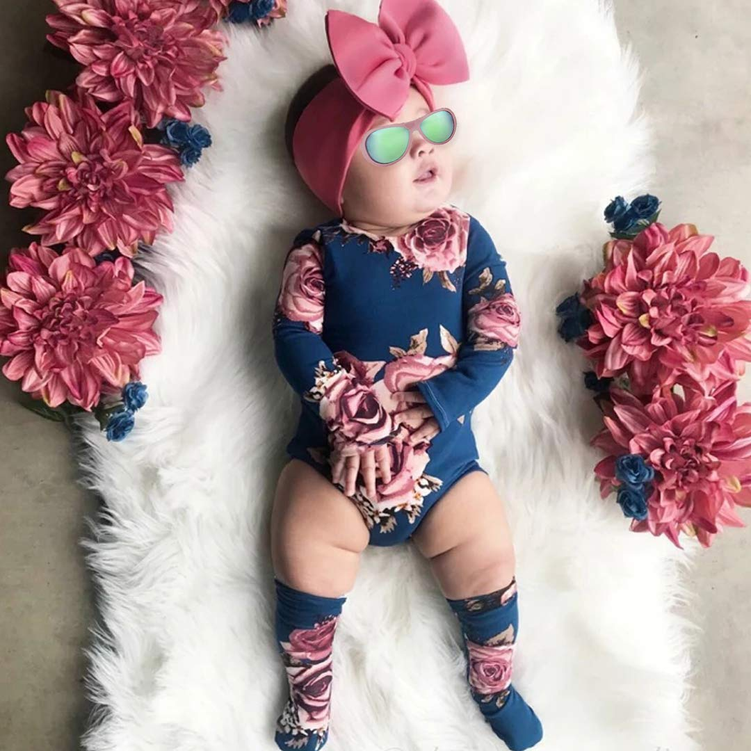 Newborn Baby Girl Clothes Flare Sleeve Romper Floral Short Pants 2pcs Summer Outfit Set