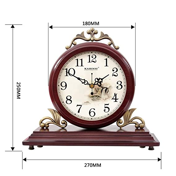 Amazon.com : Fireplace Watches Family Style Table Clock European Mute Wooden Desk Clock Decoration ó N for Living Room headboard Suitable for Bedroom Living ...