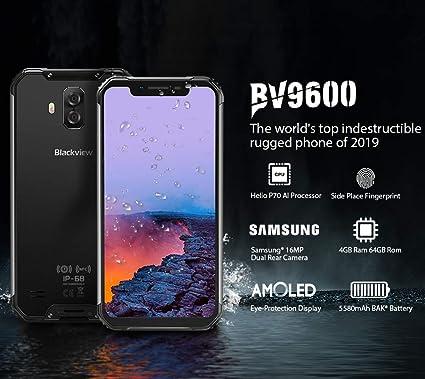 Blackview BV9600 Rugged Phone,Helio P70 AI Procesador,6.21