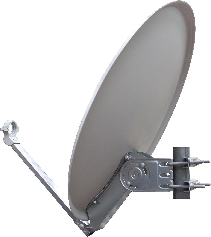 Aluminio Opticum Antena satelital QA60 con Twin LNB (60 cm ...