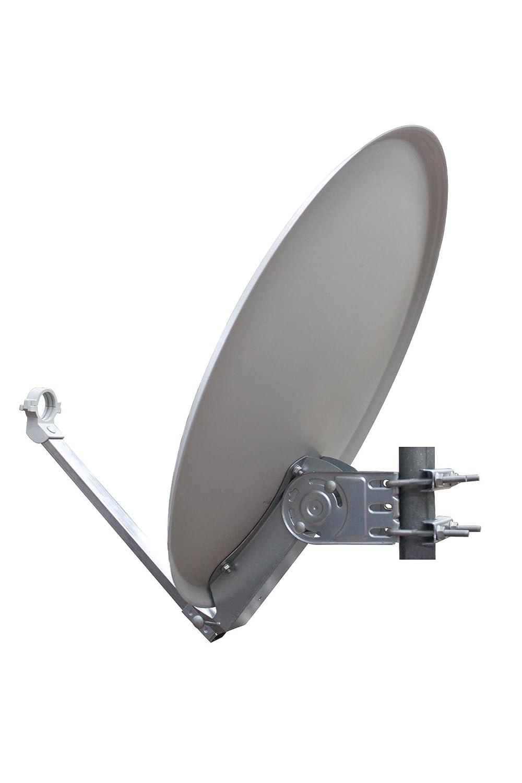60 cm anthrazit Opticum QA 60 Aluminium Satellitenantenne