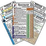 Beatmungs-Karten-Set - professional 2016 (7er-Set) - Medizinische Taschen-Karte: Bestehend aus: Beatmung - Beatmungsformen, Indikationen, ... Säure-Basen & Elektrolyte -intensiv- Azidose