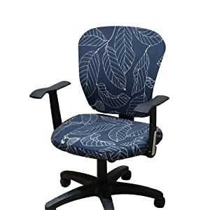 Jinzio Computer Office Chair Cover - Split Protective & Stretchable Cloth Polyester Universal Desk Task Chair Chair Covers Stretch Rotating Chair Slipcover (Universal, Style 25)