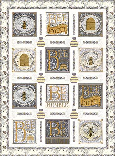 Swirls Quilt Fabric - Deb Strain Bee Joyful Buzz Buzz Quilt Kit Moda Fabrics KIT19870