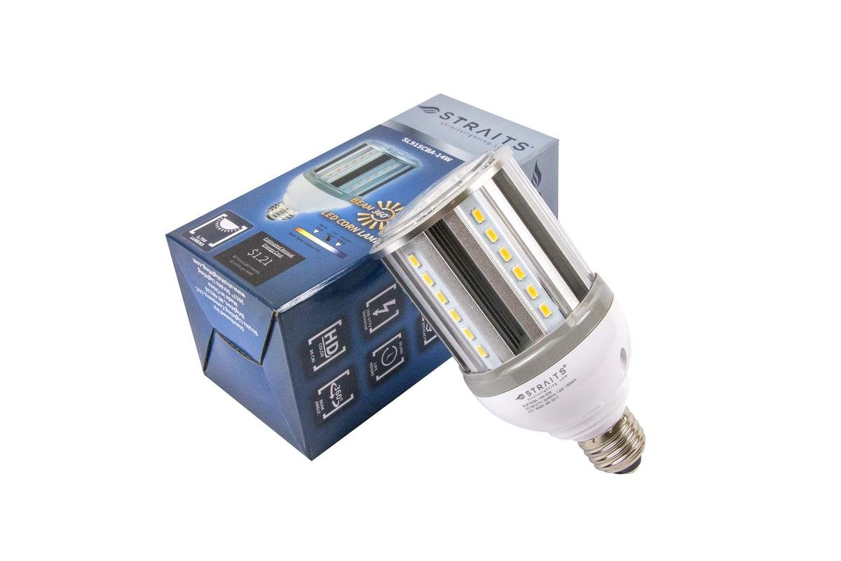 Daylight White UL Listed 18w LED Corn Lamp 2320 Lumens Easy Screw in E26 Medium Base 5000K