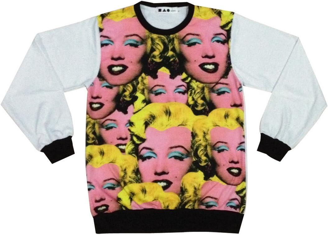 SINTHESIS Sweatshirt malilin monroll pop art skate bboy streetwear//SIN-S111 sz L