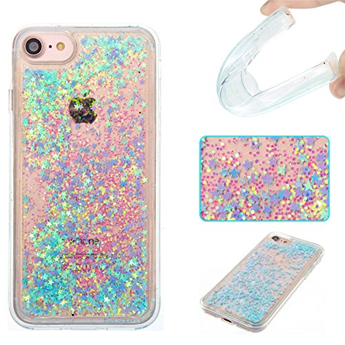 iPhone 7 Case,iPhone 8 Case,Gift_Source Fashion Bling Glitter Sparkle Liquid Quicksand Flowing Floating Case Rubber TPU Cover Soft Bumper Cases For Apple iPhone 7/iPhone 8 (4.7