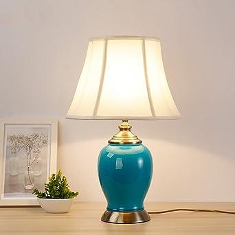 Pour De Table Lampe CéramiqueblancbleuChevet En 92YWDHIE