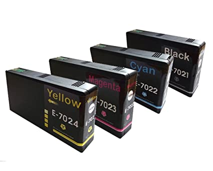 Pack de 4 cartuchos de tinta para impresora Epson WorkForce ...