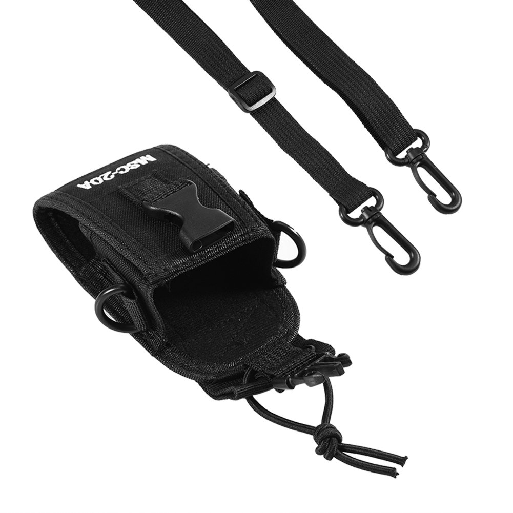 Zerone Universal Walkie Talkie Nylon Belt Case Bag with Adjustable Shoulder Strap Two Way Radio Holder Holster Case MSC-20A For Kenwood/Motorola/HYT Two-Way Radio by Zerone (Image #5)