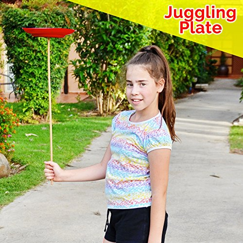 Beginners Juggling Kit - Balls (3), Pins (3), Plates (3), Rings (3), Chinese Yoyo Diabolo Advanced Set Cool Fun Unique Toy Gift Set For Boys and Girls by Juggle Mania (Image #6)