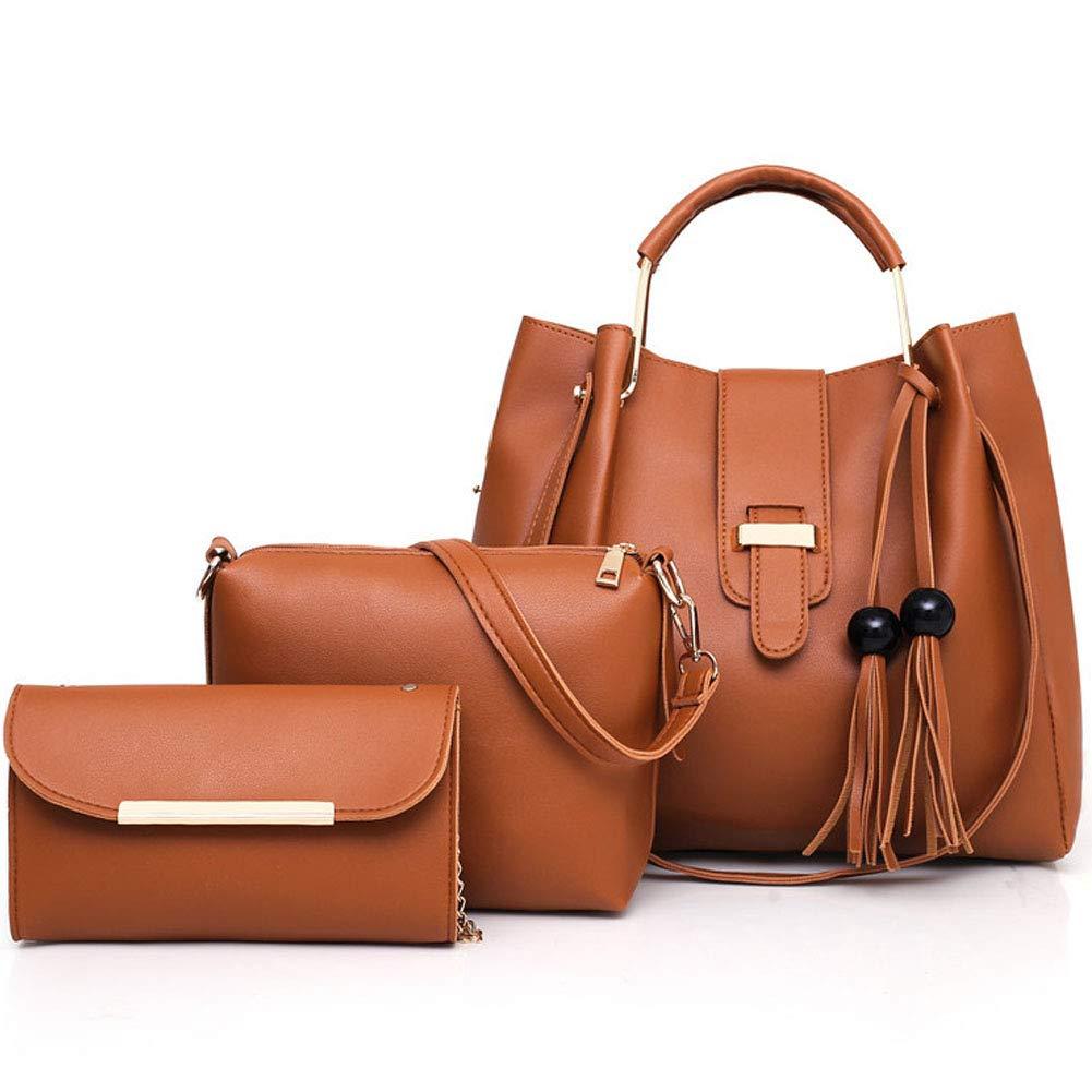 Stylish one-shoulder hand bucket bucket-brown