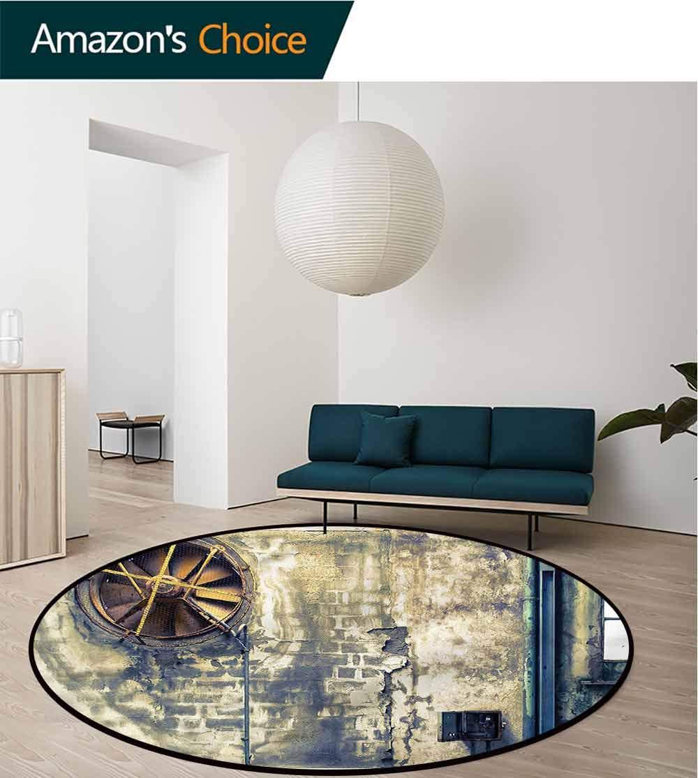 RUGSMAT Industrial Anti-Skid Area Rug,Wrecked Wall Living Room Bedroom Study Soft Carpet Diameter-51 by RUGSMAT