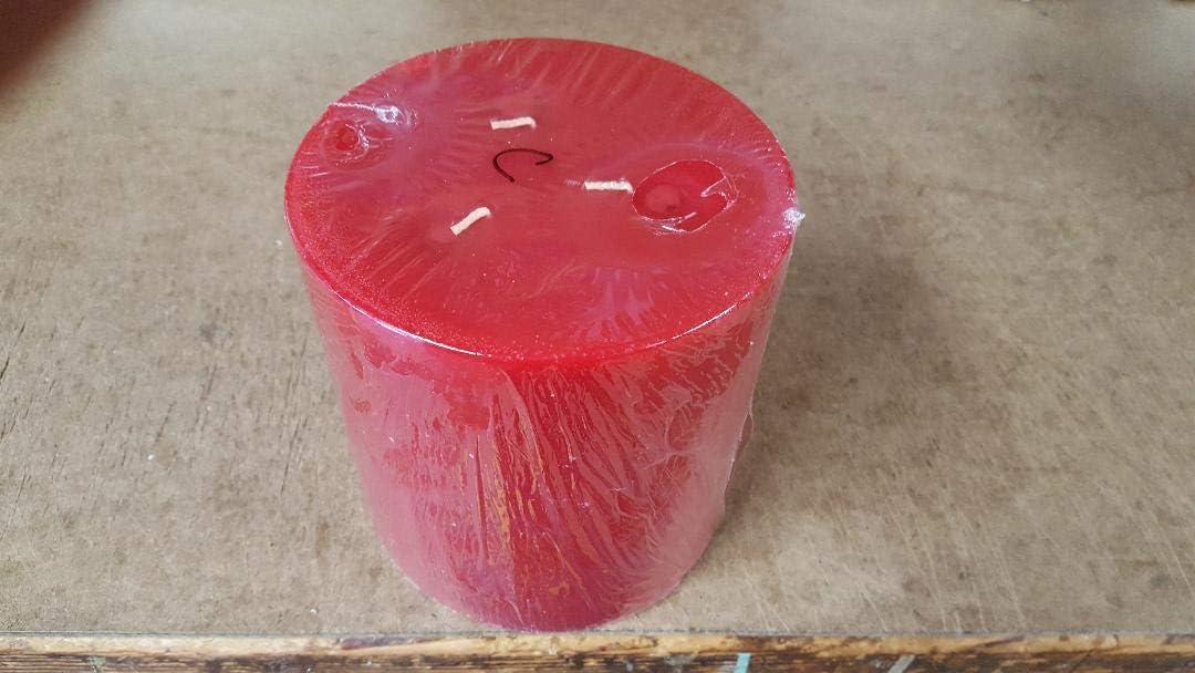 3 Wick Apple Cinnamon Scented Pillar Candle 6