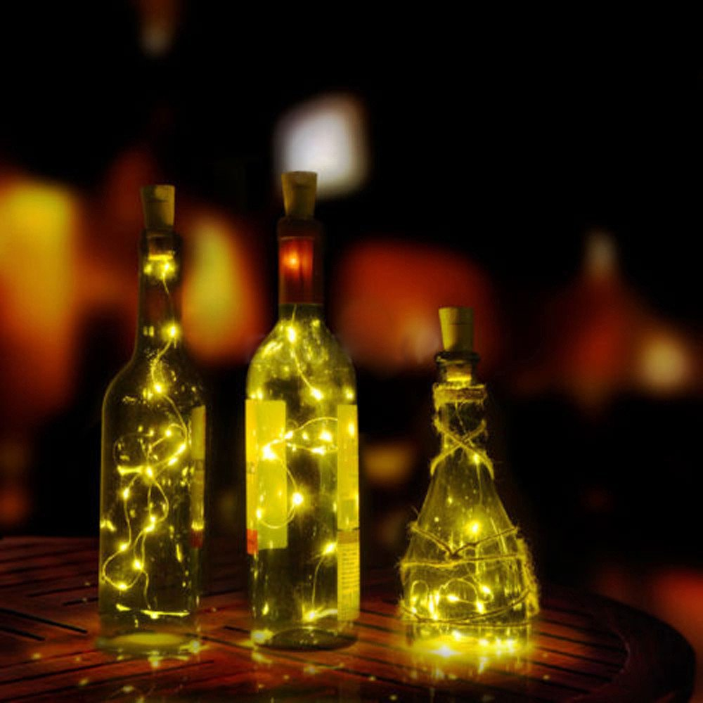 Party Lights String Outdoor,Wine Bottle Cork Shaped String Light 20 LED Night Fairy Light Lamp,Outdoor Lighting Products,Warm White,20 LED