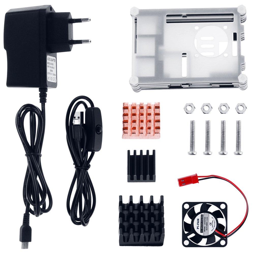Zacro 5-EN-1 Kit para Raspberry Pi 3 y 2 ,...