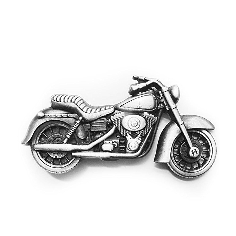 eeddoo® Gürtelschnalle - Motorrad - -Motorcycle - Biker Buckle (Buckle für Wechselgürtel für Damen und Herren | Belt Frauen Männer Oldschool Rockabilly Metall Gothic Wave Rock Biker Western Trucker)