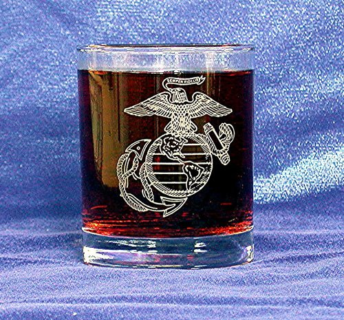 custom-etched-usmc-emblem-on-125-oz-double-old-fashion-set-of-4