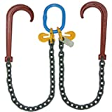 B/A Products G8-118-4 J Hooks, 3/8' Grade 80 V-Chain with 15', 4' Legs, 4.25 Height, 7.5 Width, 17.25 Length