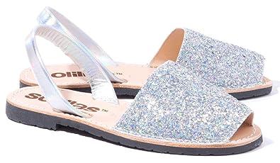 Solillas Silver Glitter Menorcan Sandals discount 100% original vaHvYAhIb