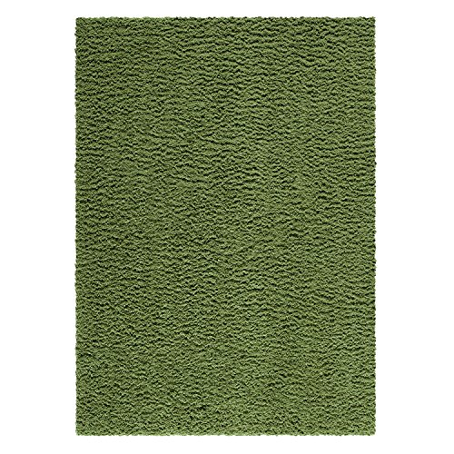 Kitchen Rugs, Maples Rugs [Made in USA][Catriona] 2'6 x 3'10 Non Slip Padded Small Area Rugs for Living Room, Bedroom, and Entryway - Moss (Moss Green Area Rug)