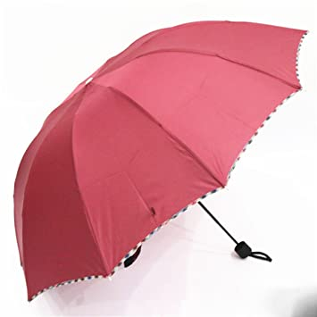 SBBCW Large Plegado 3 Robusto 10 Acero Barómetro Doble Paraguas Comercial