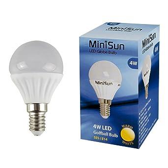 Bombillas 4 W LED SES E14 de bajo consumo y larga vida pelota de golf bombilla