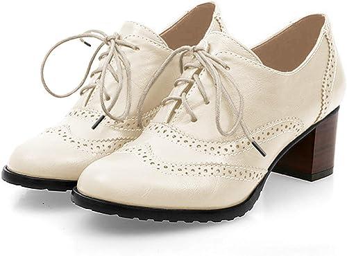 Amazon.com: England Brogue Shoe Mujeres. Zapatos de cuero ...