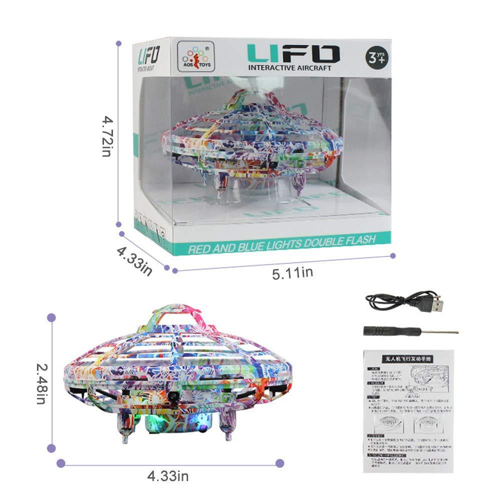 Drone con Luce LED Colorata e Telecomando per Bambini Palla Volante Ragazzi e Ragazze Giocattolo UFO Giochi per Interni ed Esterni Elicottero a induzione a infrarossi Lispeed RC