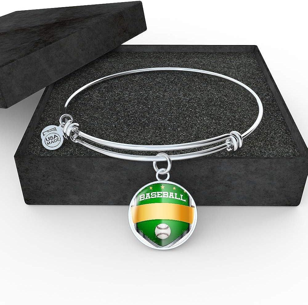 Luxury Bangle NanaTheNoodle Baseball Shield Badge
