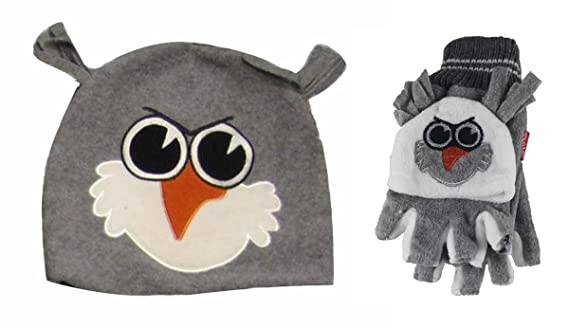 05fa8a58d6c Jiglz Fleece Animal Ski Hat and Gloves  Amazon.co.uk  Clothing