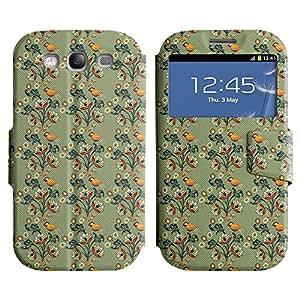 LEOCASE Pájaros Y Flores Funda Carcasa Cuero Tapa Case Para Samsung Galaxy S3 I9300 No.1000276