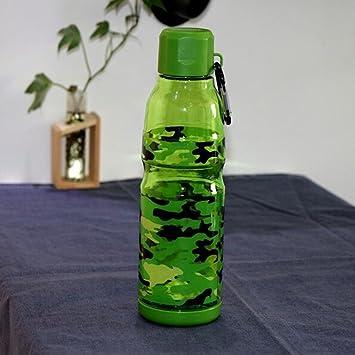 QINGZ Vasos De Plástico Camuflaje Creativo A Prueba De Fugas Y A Prueba De Caída Portátil Deportes Y La Botella De Agua De Fitness Estudiante,A4: Amazon.es: ...