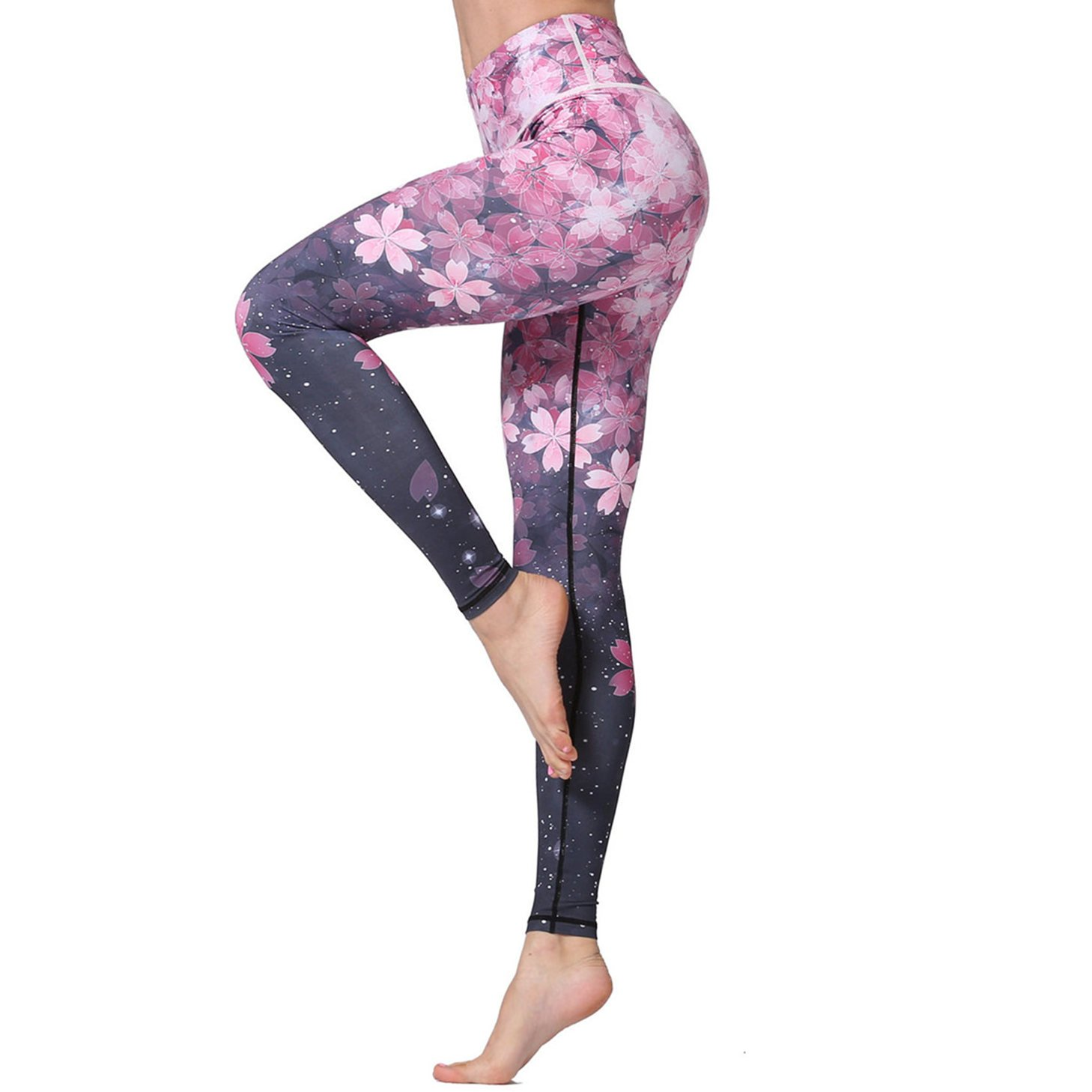 d549c11fd726 MTSCE Yoga Pants Printed Running Leggings Capris Yoga Capris for Fitness  Riding Running product image