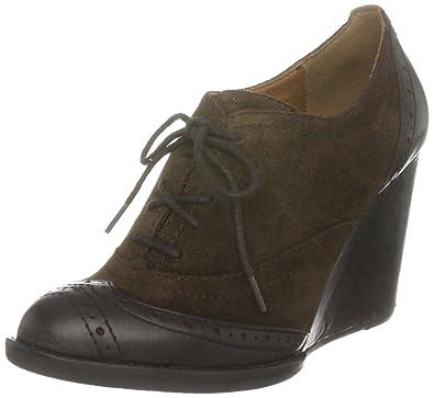 e7f26058d1b1 Tommy Hilfiger Women s Kaylee 1 A Wedge Heel Dark Brown 6.5 UK  Amazon.in   Shoes   Handbags