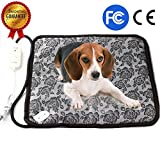 Pet Heating Pad - Dog Cat Electric Heating Pad Waterproof Adjustable Warming Mat with Chew Resistant Steel Cord 17.7