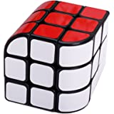 HJXD globle New Structural Design of Curved Trihedron Magic Cube 3x3x3 Puzzle Cube Black