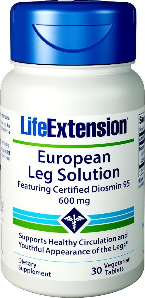 Life Extension European Leg Solution featuring Certified Diosmin-95, 30 Vegetarian Tablets